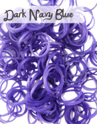 Dark Navy Loom Silicone Bands