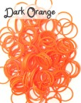 Dark Orange Loom Silicone Bands