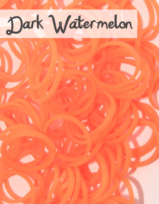 Dark Watermelon Loom Silicone Bands