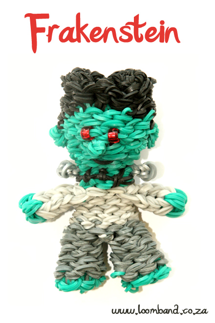 3D Frankenstein loom band tutorial - loomband SA