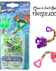 Green Glow in the dark Finger Loom kit - Loomband