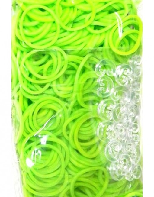 Lime Green Rainbowloom rubber bands