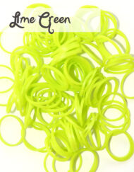 Lime Green Loom Silicone Bands