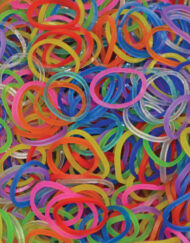 Mix Jelly Rainbowloom rubber bands - Loomband