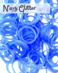 Navy Glitter Loom Silicone Bands