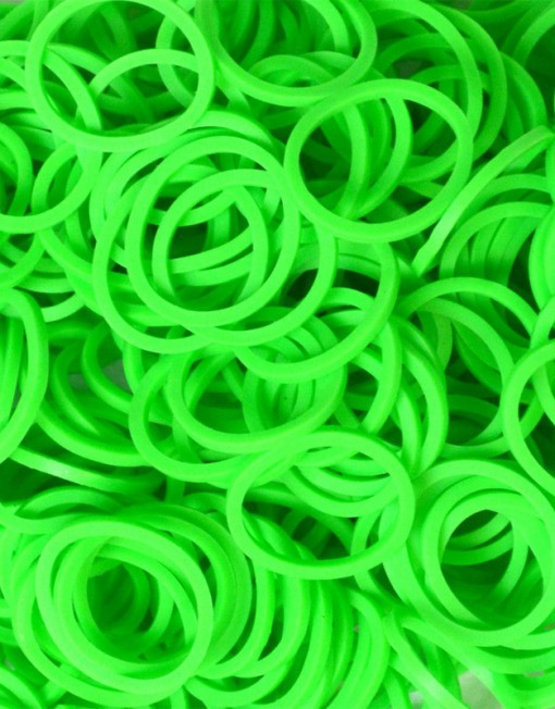 Neon Green Rainbowloom rubber bands