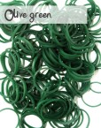 Olive Green Loom Silicone Bands