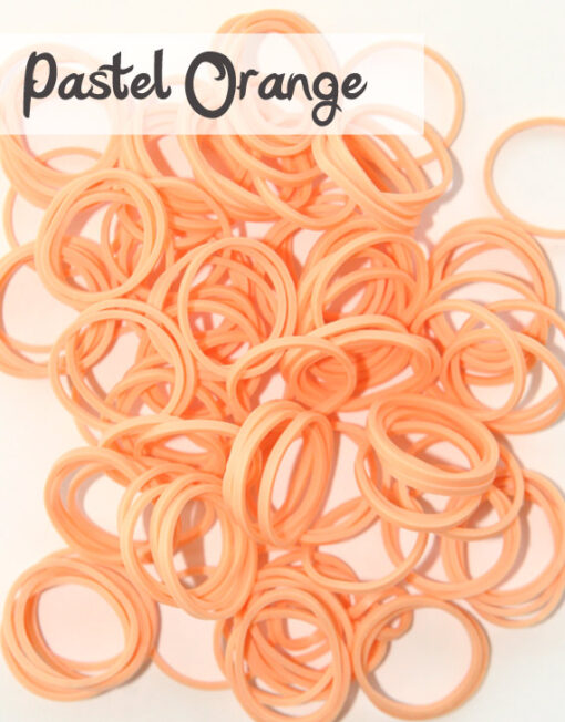 Pastel Orange Loom Silicone Bands