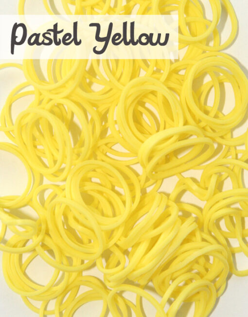 Pastel Yellow Loom Silicone Bands