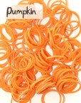 Pumpkin silicone loom Bands