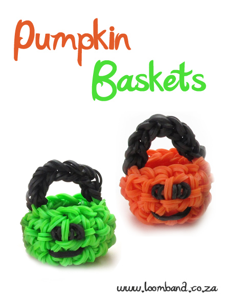 3D Pumpkin basket loom band tutorial - loomband SA
