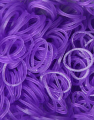 Purple Jelly Rainbowloom rubber bands