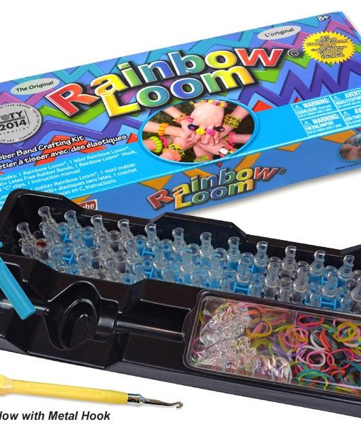 rainbow loom kit with metal hook - Loomband