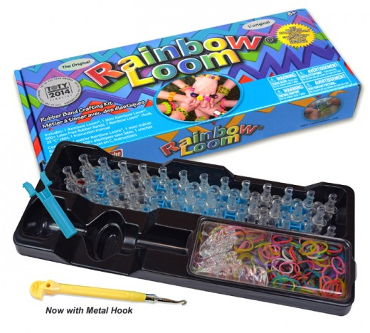 rainbow loom kit with metal hook - Loomband