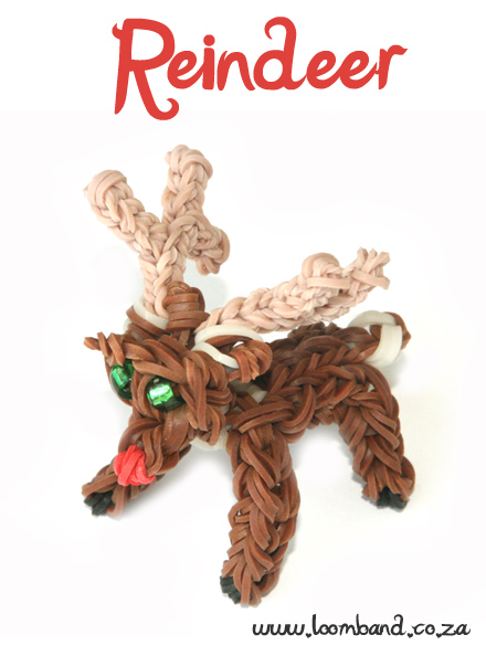 Christmas Reindeer loom band tutorial