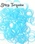 Shiny Turquoise Loom Silicone Bands