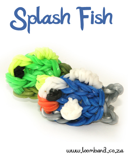 Splashy Fish Loom Band Figurine Tutorial