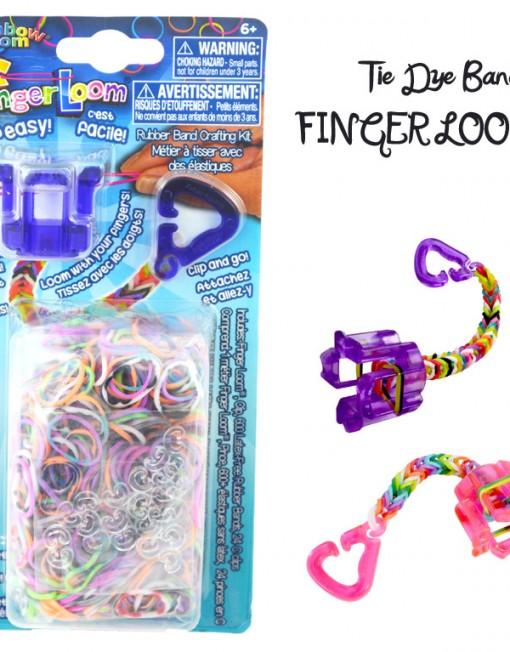 Tie-dye Finger Loom kit - Loomband