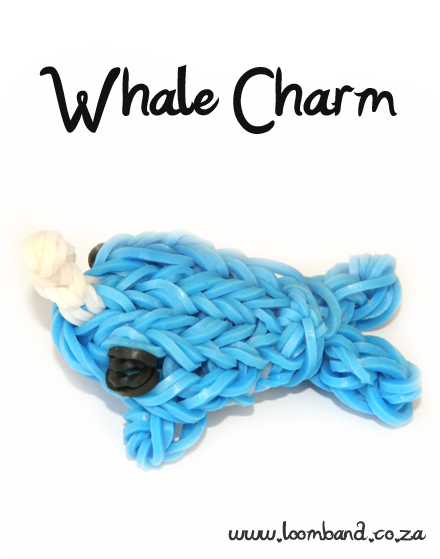 3D whale loomband-loomband