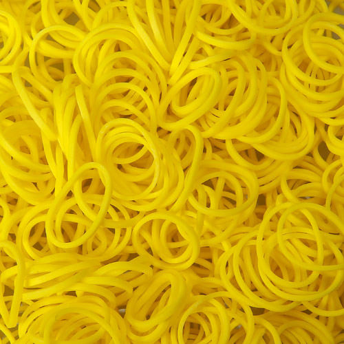 Yellow Rainbowloom rubber bands - Loomband