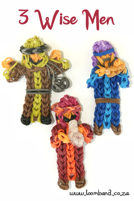 3 Wise Men Loom Band tutorial