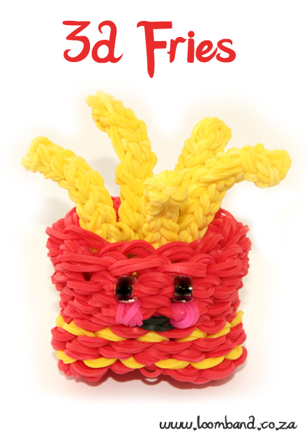 3D Happy Fries loom band tutorial