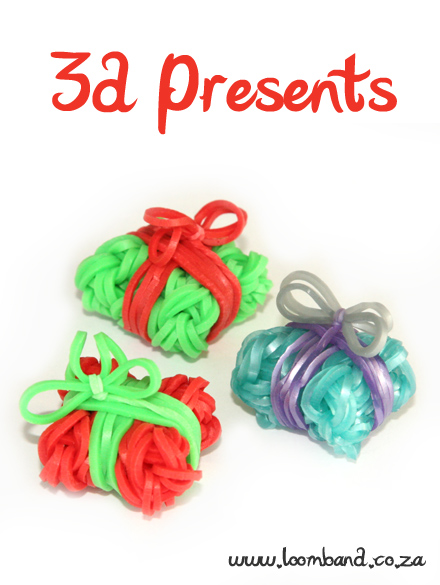 3D Present Box loom band tutorial - loomband SA