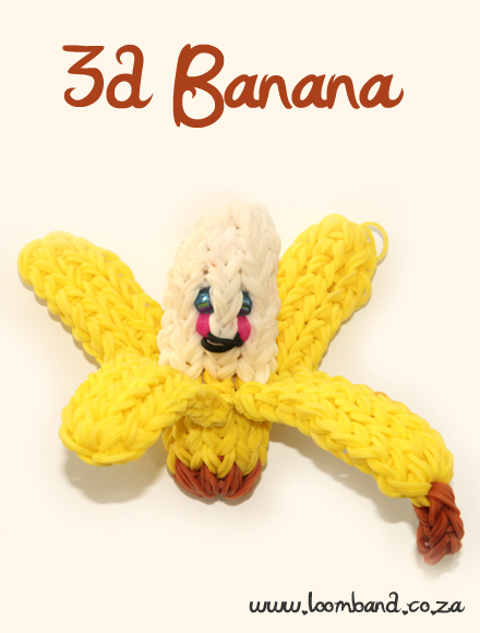 3D Happy Banana loom band tutorial