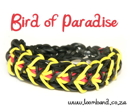 bird of paradise rainbow loom bracelet