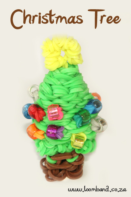 3D Christmas Tree loom band tutorial - loomband SA