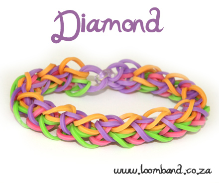 diamond rainbow loom bracelet