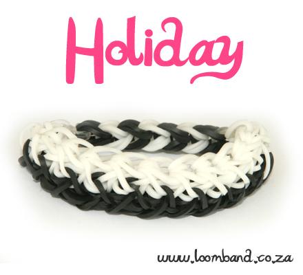 holiday rainbow loom bracelete