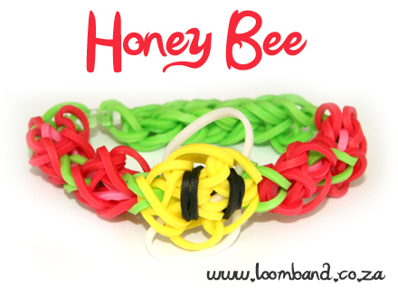 honey bee rainbow loom bracelet