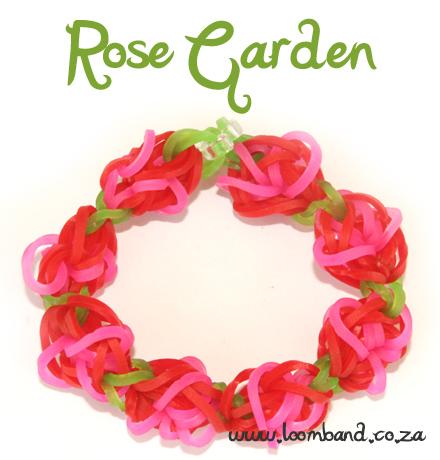 rose garden rainbow loom bracelet