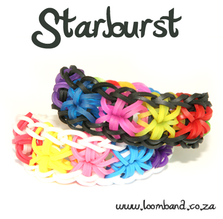 star burst rainbow loom bracelet