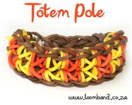 totem pole rainbow loom bracelet