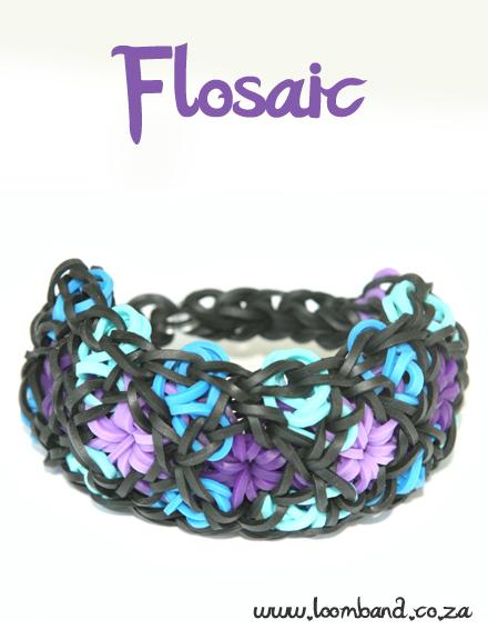 Flosaic Loom Band bracelet TutorialSA