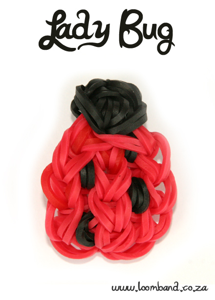 Lady Bug Loom Band tutorial - SA