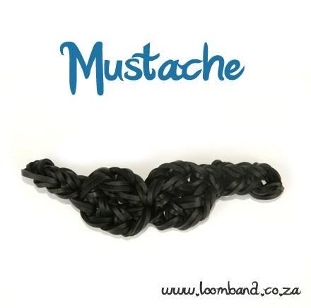 Mustache Loom Band Charm tutorial - Loomband SA