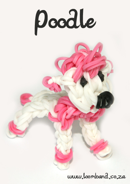 Poodle Loom Band Figurine TutorialSA