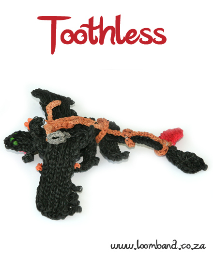 Toothless/ Night fury adult loom band tutorial