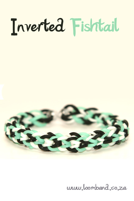 Inverted fishtail loom band bracelet tutorial
