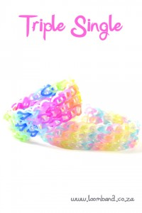 triple single loom band tutorial
