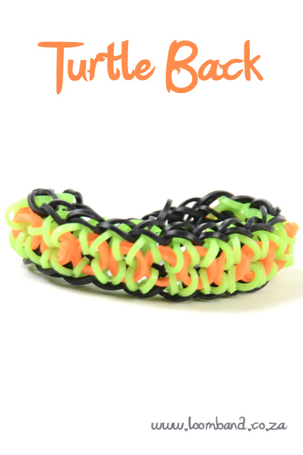 Turtle Back loom bracelet tutorial