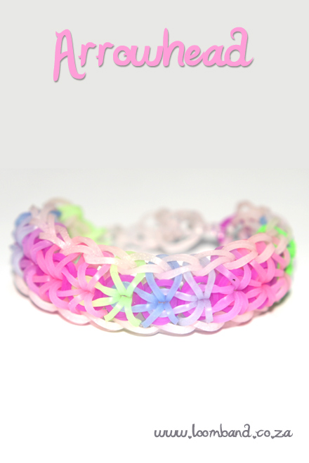 Arrowhead loom band bracelet tutorial