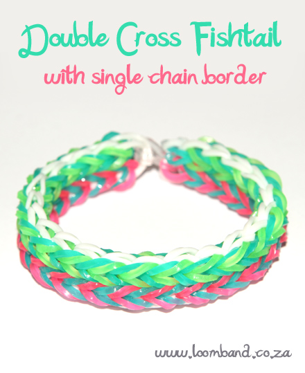 Double cross fishtail with single chain border