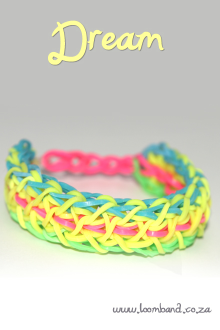 Dream loom band bracelet tutorial