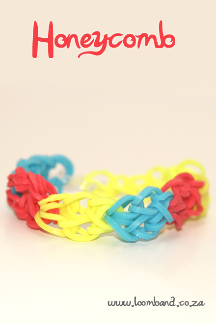 honeycomb bracelet loom band tutorial