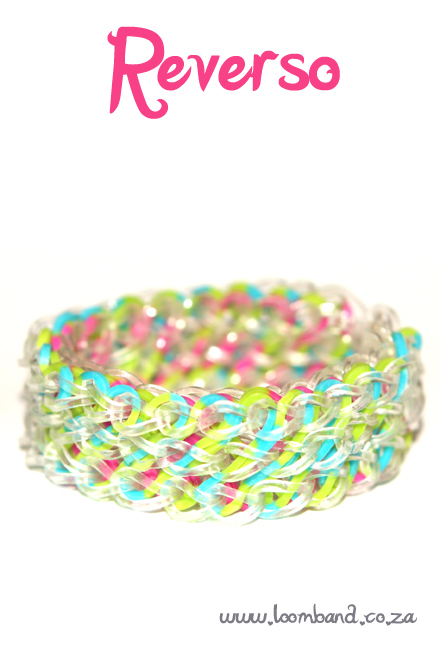 Reverso loom band bracelet tutorial