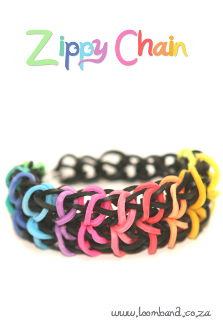 Zippy chain Loom Band bracelet tutorial